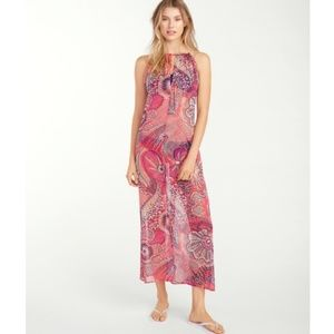 Tommy Bahama Carnival Lights Sheer Maxi Cover-Up M